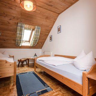 Schlafzimmer der Ferienwohnung Huhn