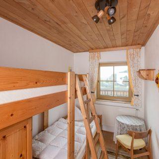 Schlafzimmer der Ferienwohnung Kuh