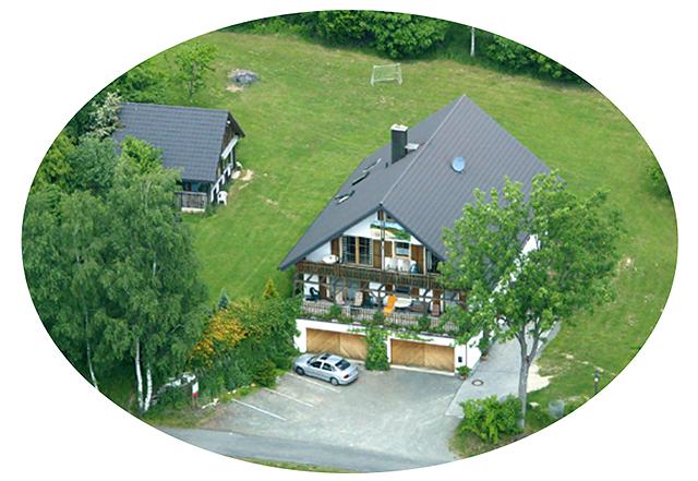 Luftaufnahme des Gästehauses